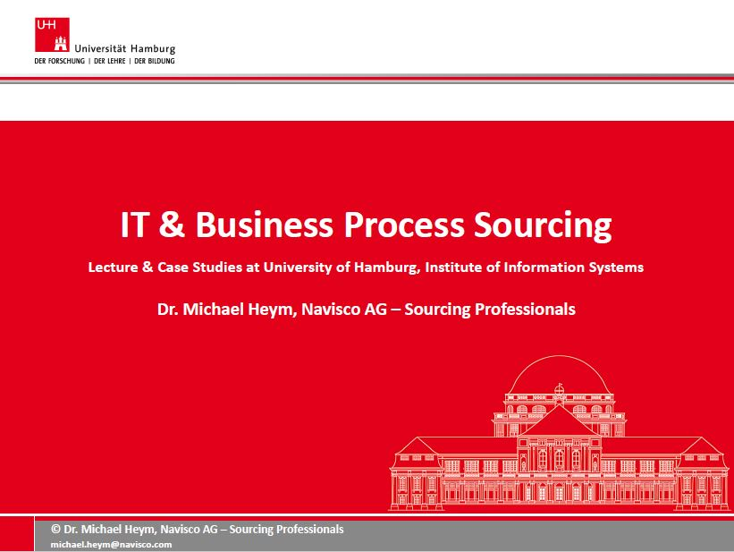 University of Hamburg - IT Business Process Sourcing Overview
